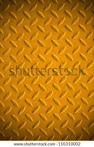 Yellow dirty metal pattern background. - stock photo