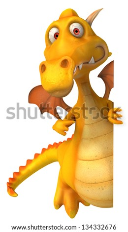 Yellow dragon - stock photo