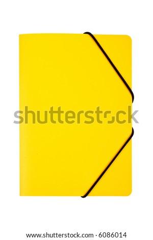 Yellow folder isolated on white background - stock photo