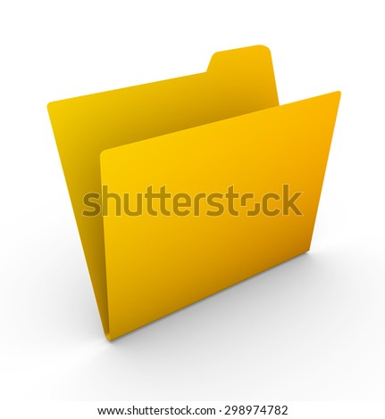 Yellow folder , This is a computer generated and 3d rendered picture.