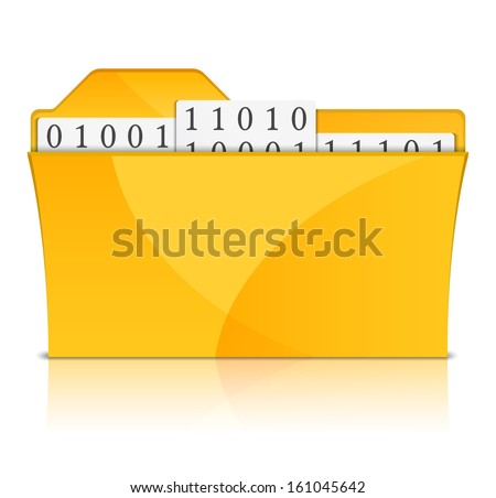 Yellow folder with files