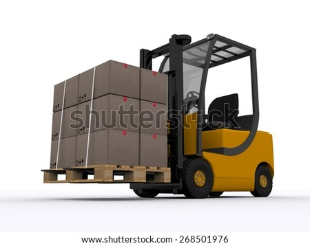 yellow forklifter