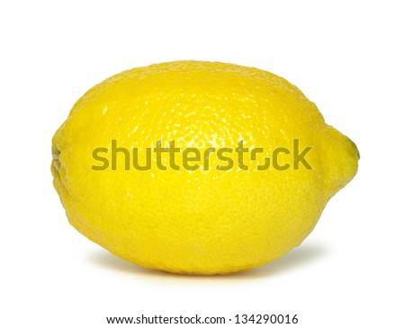 yellow fresh lemons isolated on a white