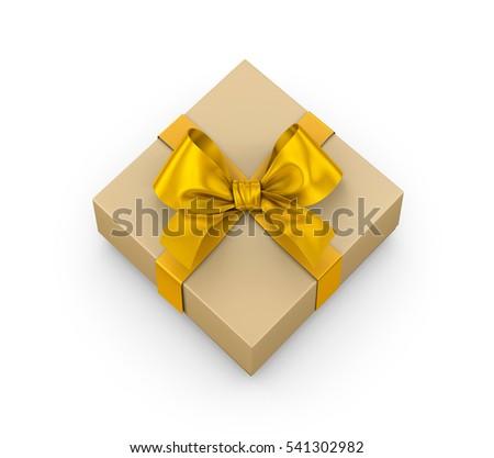Open Yellow Gift Box Ribbon Top Stock Illustration 538351159 ...