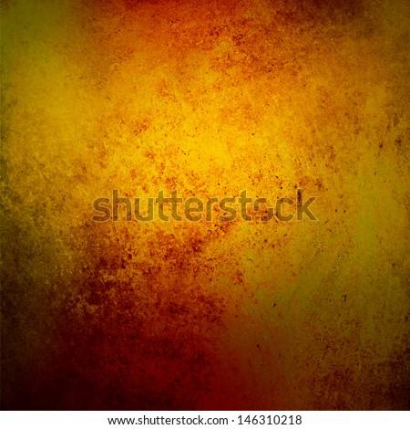 Yellow Gold Background Red Rustic Color Sponge Design Vintage Grunge Texture Rich