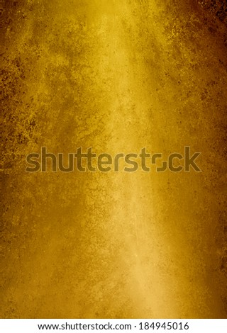 yellow gold background texture, rough vintage grunge background design of old metallic brushed gold surface - stock photo