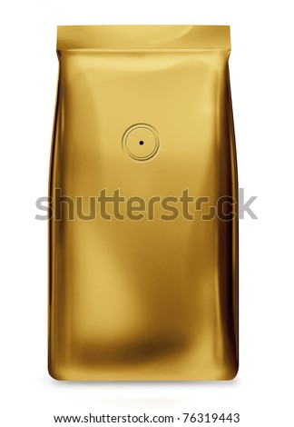 yellow gold bag foil bag with valve