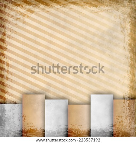 Yellow, Gold, grunge background. Old abstract vintage texture with frame and border.