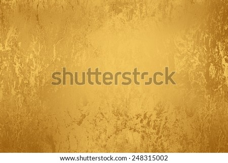 Yellow golden abstract   background , with   painted  grunge background texture for  design  - stock photo