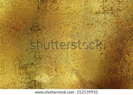 Yellow golden abstract   background , with   painted  grunge background texture for  design . - stock photo