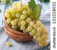 Yellow grapes, square image - stock photo