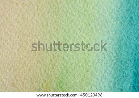 Yellow green cyan eco natural hand drawn abstract watercolor gradient background. Space for text, lettering, copy. Nice postcard template. - stock photo