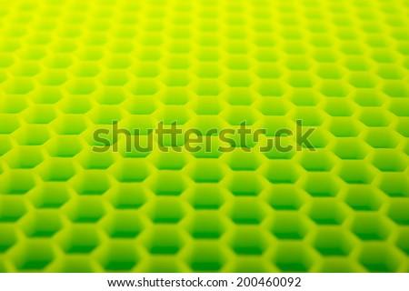 Yellow green hexagon abstract background. hexagonal structure. - stock photo