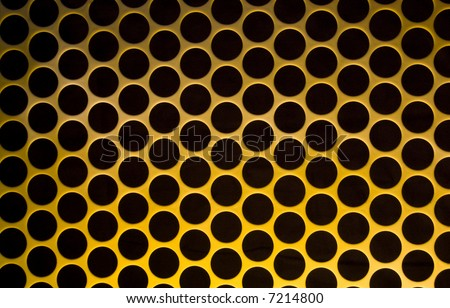 Yellow Grid Circular Background - see more in portfolio - stock photo