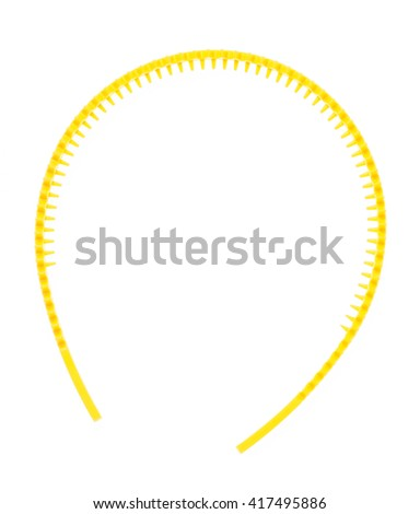 yellow hair band isolated on the white background - stock photo
