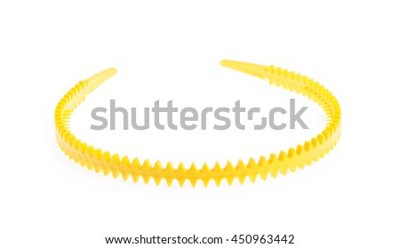 yellow hair band isolated on the white background
