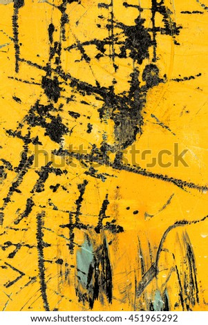 yellow iron background with scratches