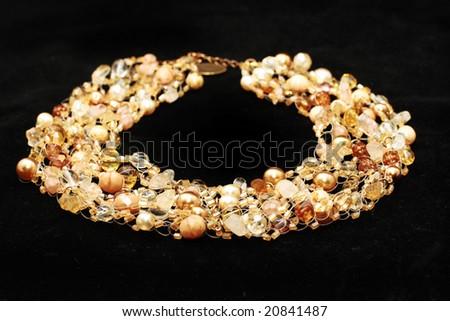 yellow jewelery - stock photo
