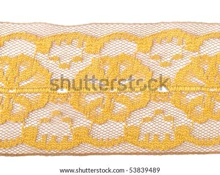 yellow lace - stock photo