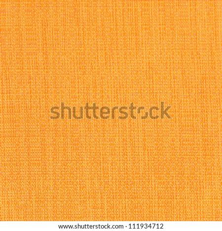 Yellow linen canvas texture - stock photo