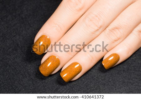 Yellow manicure