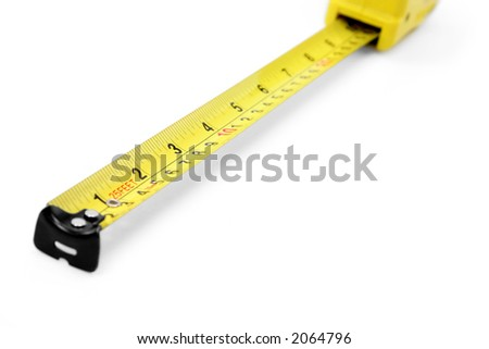 yellow measuring tape isolated with a white background.