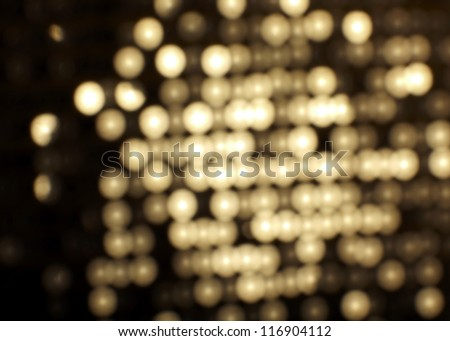 Yellow metal sequins background - stock photo