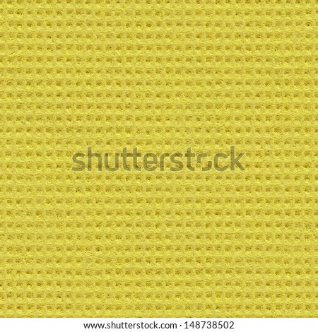 Yellow Microfiber Surface. Seamless Tileable Texture. - stock photo