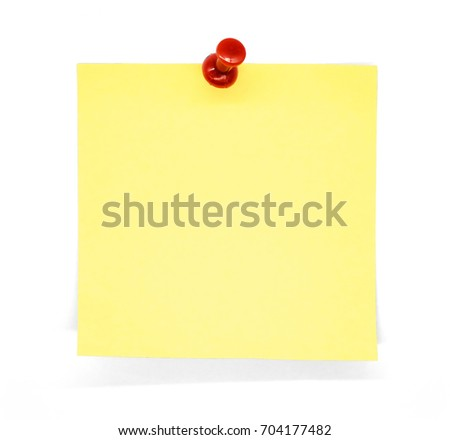 yellow notes isolated on white background.