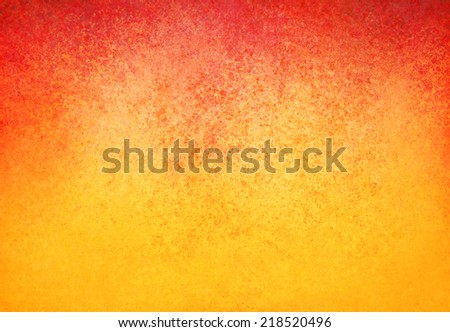 yellow orange background with red border and distressed texture design - stock photo