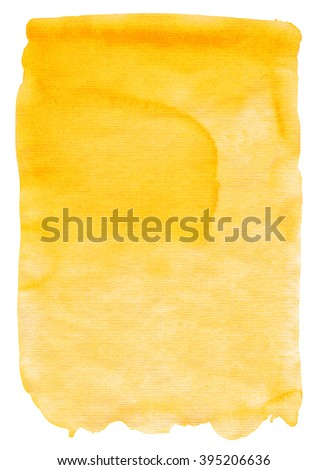 Yellow orange watercolor texture  for backgrounds and designs - stock photo