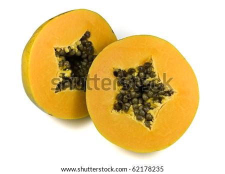 Yellow Papaya - stock photo