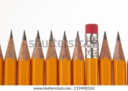 Yellow pencils - stock photo