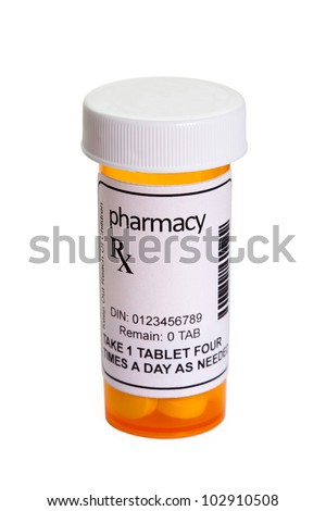 Yellow Pill Bottle, concept for Healthcare And Medicine