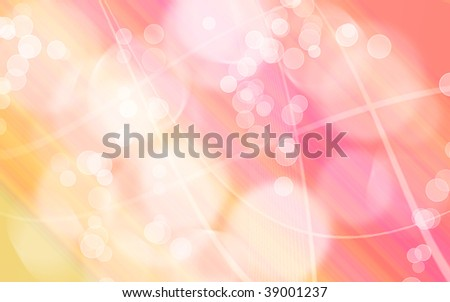 yellow pink gradient wallpaper illustration with abstract shapes, splashes and flashes