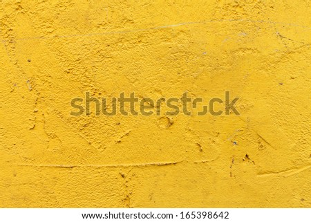 Yellow plaster wall texture background  - stock photo