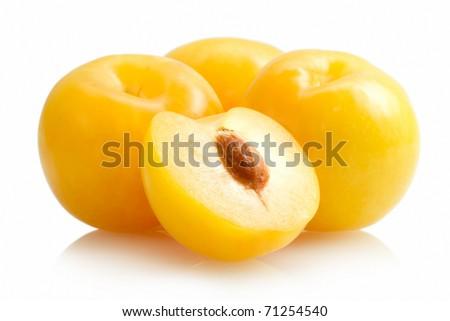 yellow plums - stock photo