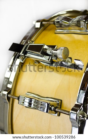 yellow plywood snare drum