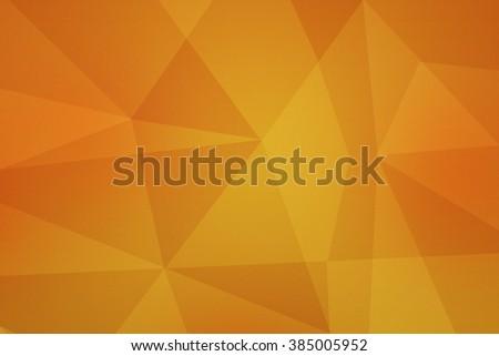 Yellow Polygonal Texture - stock photo