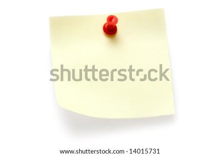 Yellow Post-it - stock photo