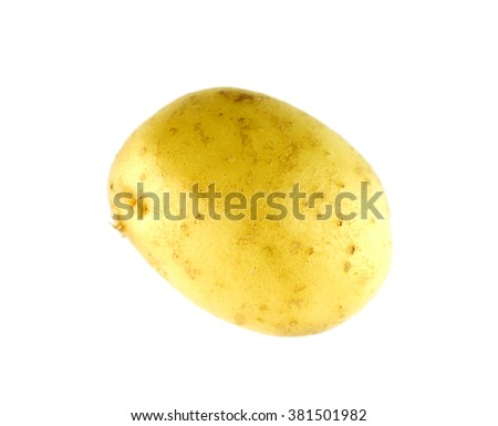 Yellow potato isolated on white