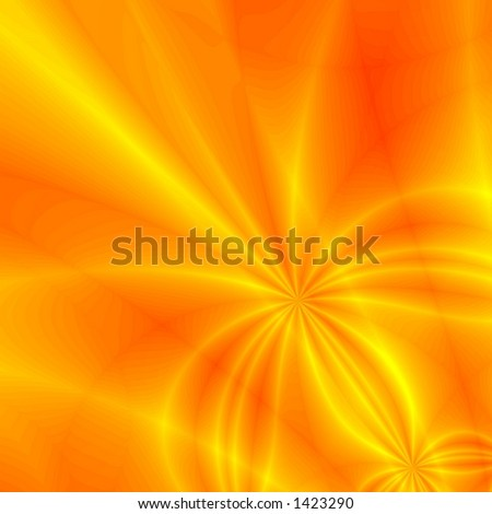 Yellow-red Background illustration - stock photo