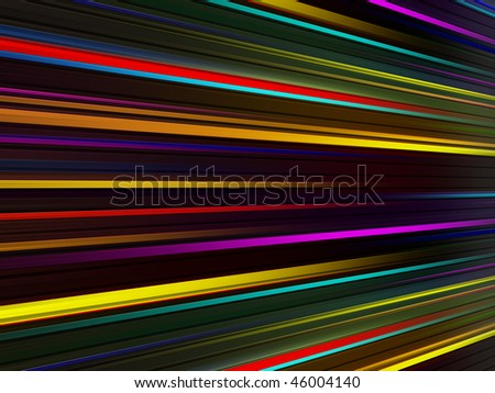 Yellow, red, purple, and blue dynamic waves perspective