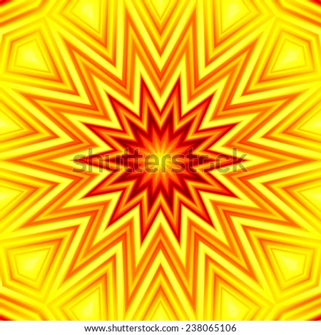 Yellow-red star background. High resolution abstract image - stock photo