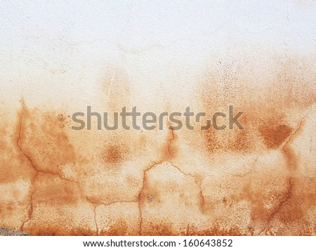 Yellow rust grunge old cement weathered wall background. - stock photo