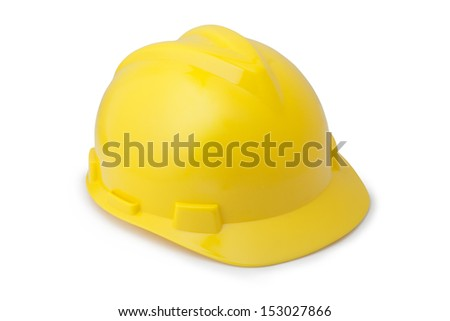 Yellow safety helmet