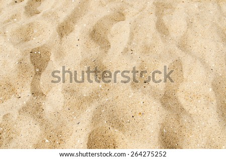 yellow sand on beach as background - stock photo