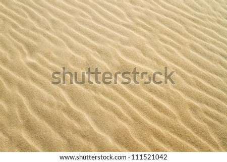 Yellow sand texture - stock photo
