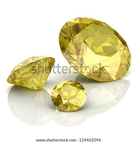 yellow sapphire - stock photo
