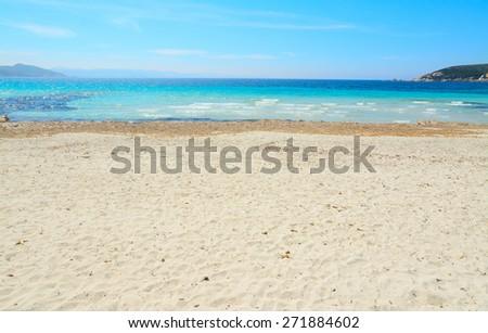 yellow shore in Capo Testa, Sardinia - stock photo